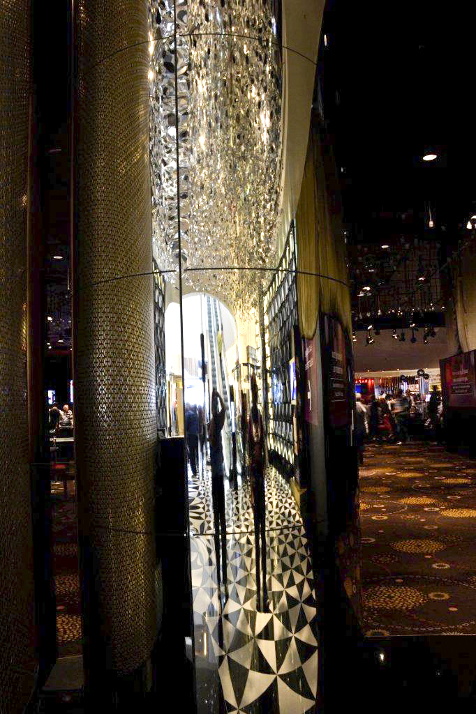 Shiny Pillar in Crown Casino