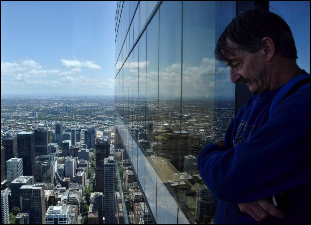 David, apparently standing 0utside the 88th Floor!