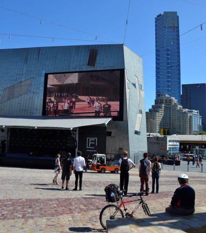 Federation Square Camera Screen