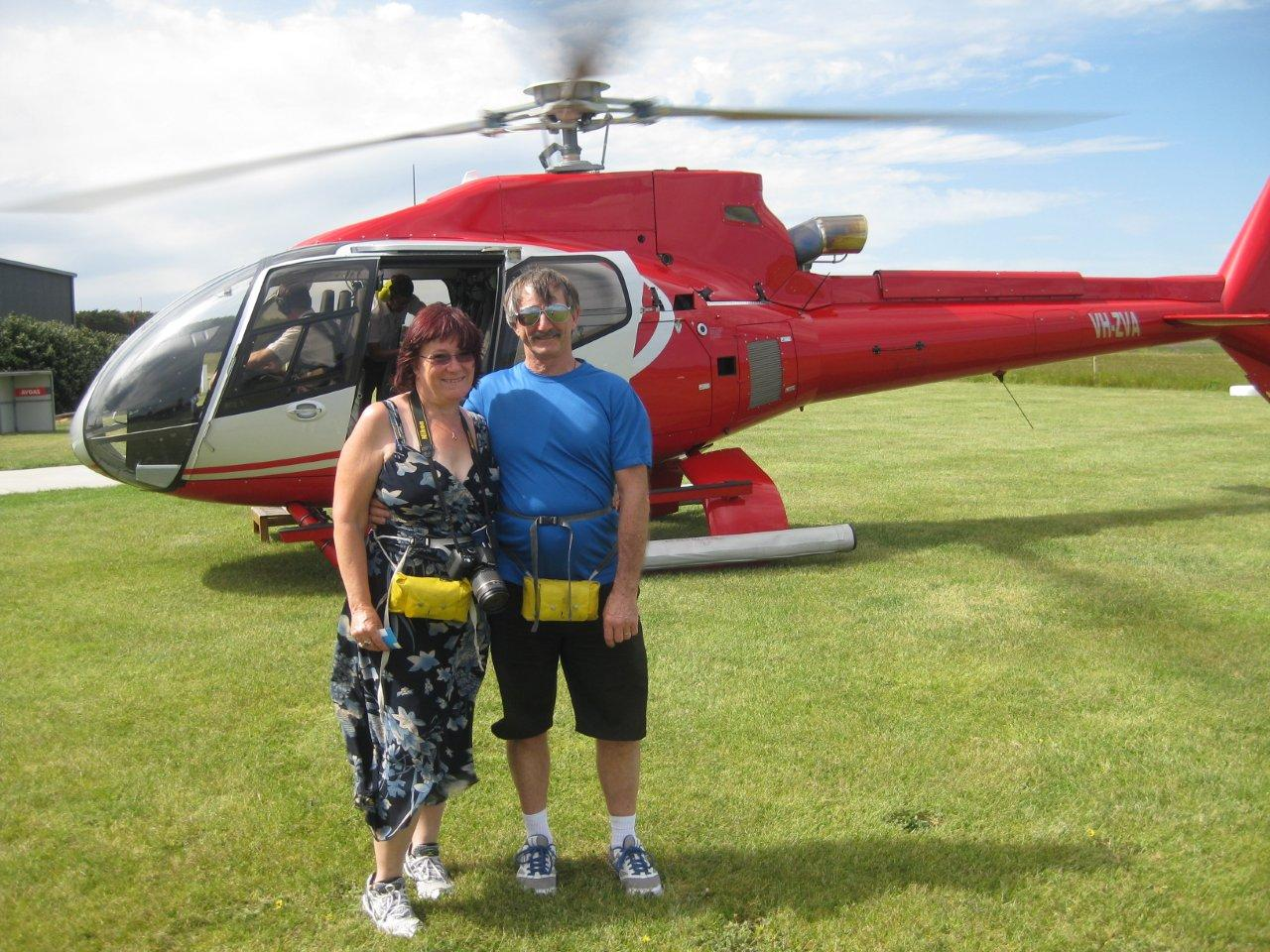 David & May after the Helicopter Tour