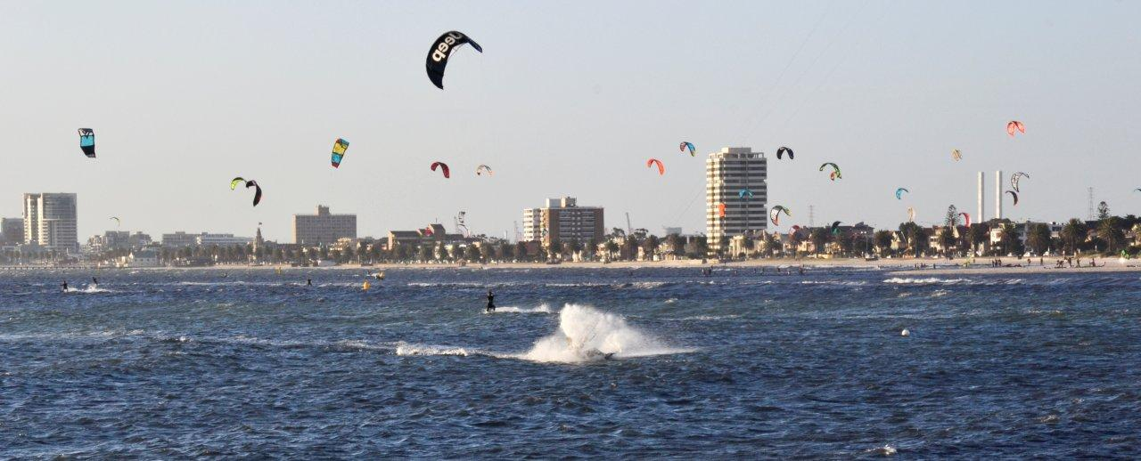Wind Surfers at St Kilda