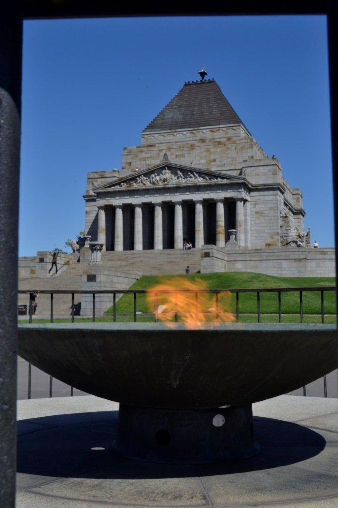 Flame and Shrine of Remembrance