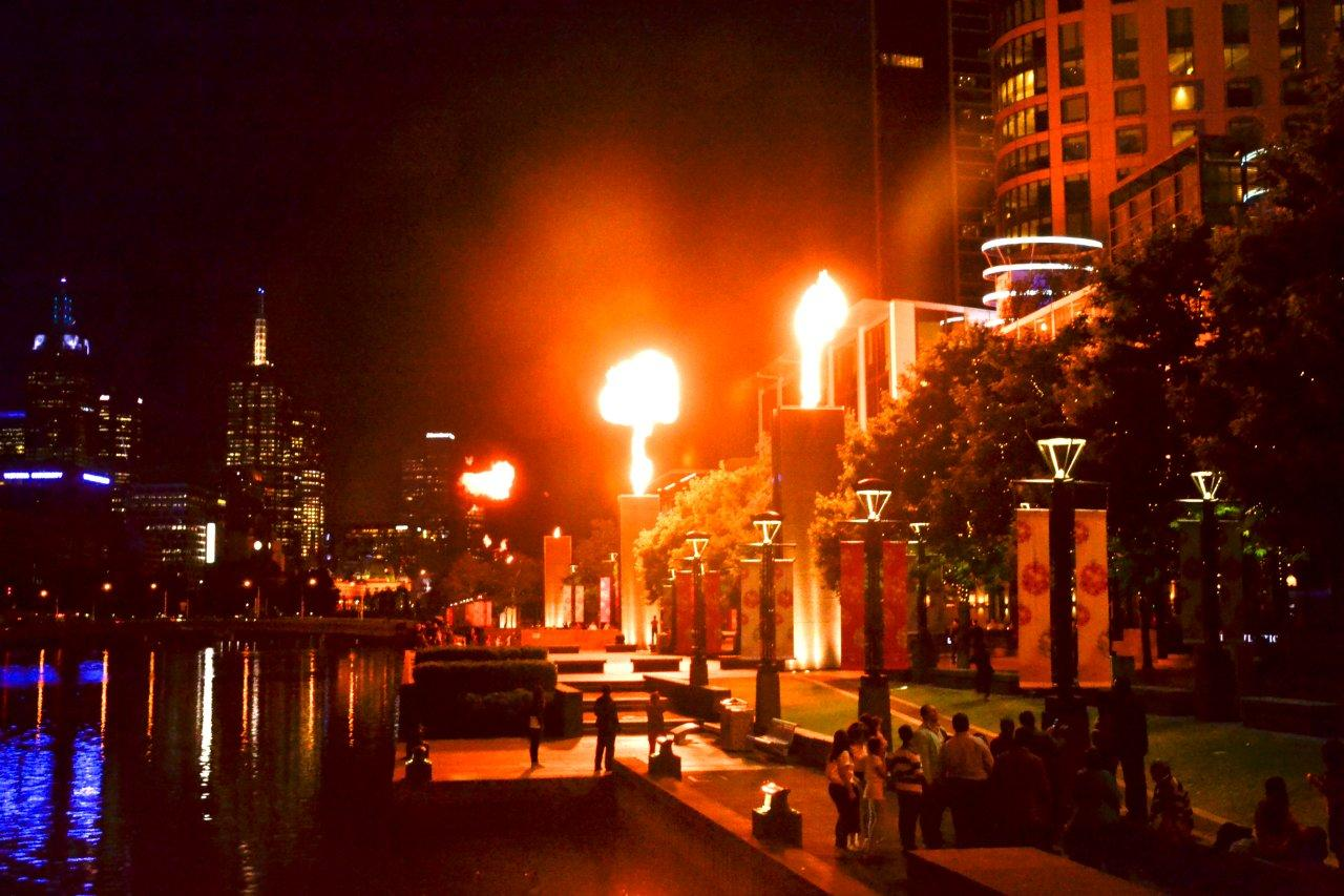 Crown Casino Gas Fireball Show
