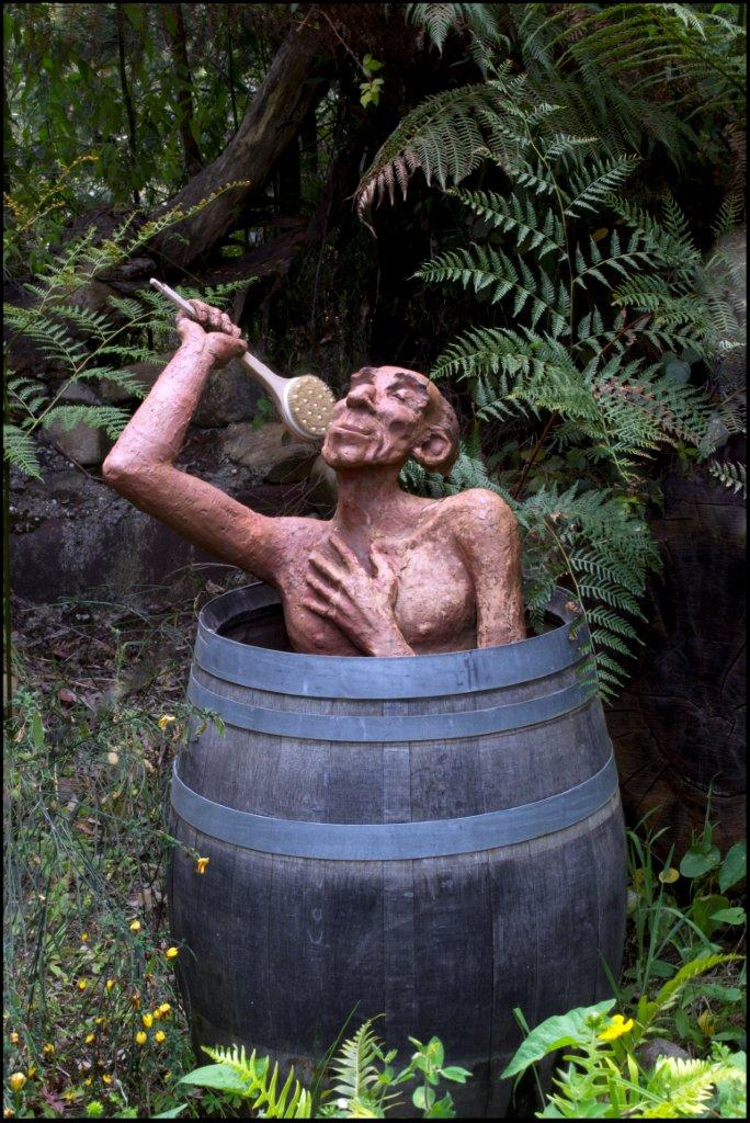 Bruno's Sculpture Garden - Bathtub Barrel