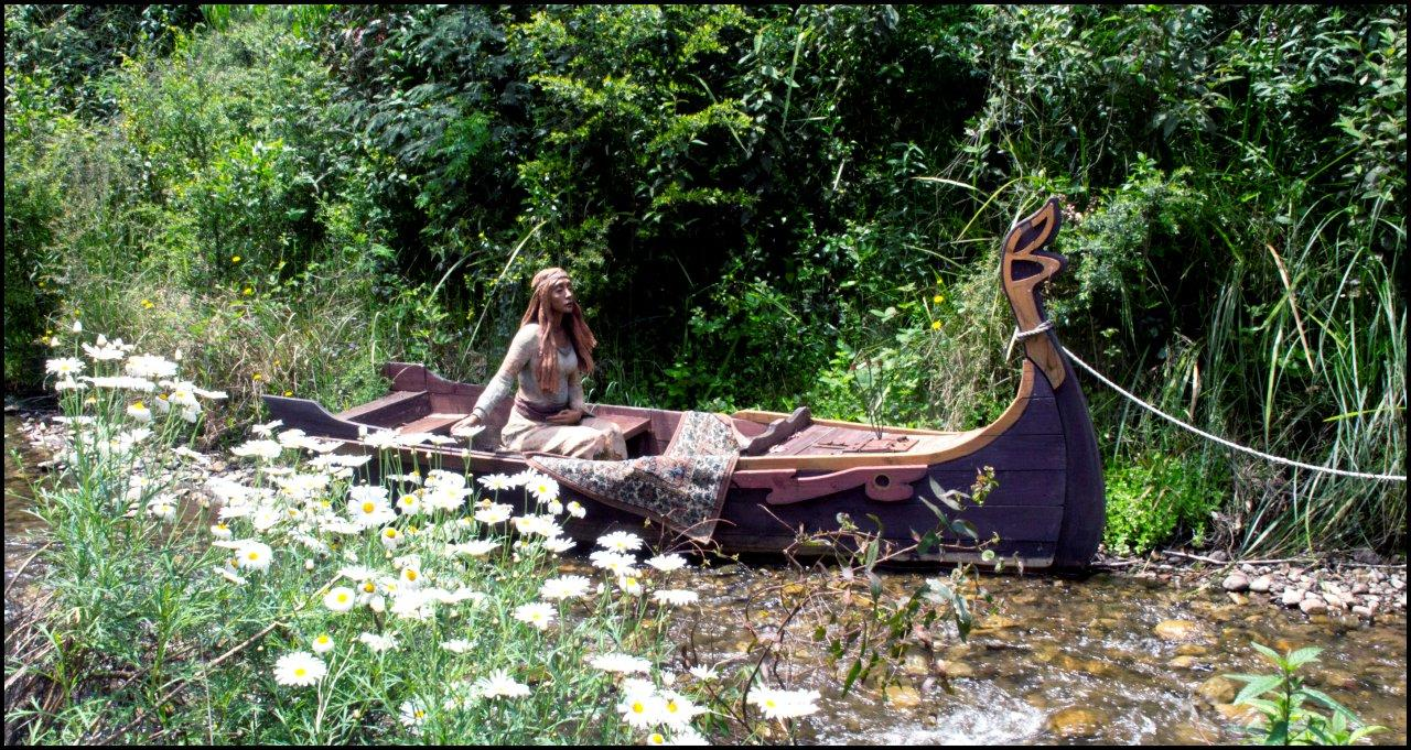 Bruno's Sculpture Garden - Lady of Shalott Sculpture