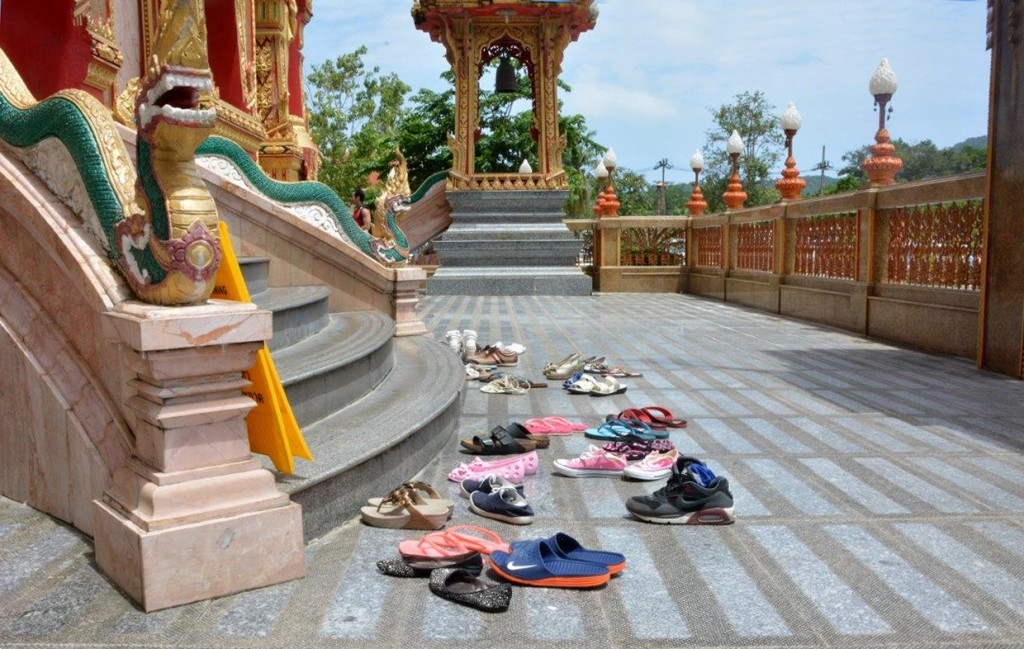 Shoes outside the Temple at Wat Chalong