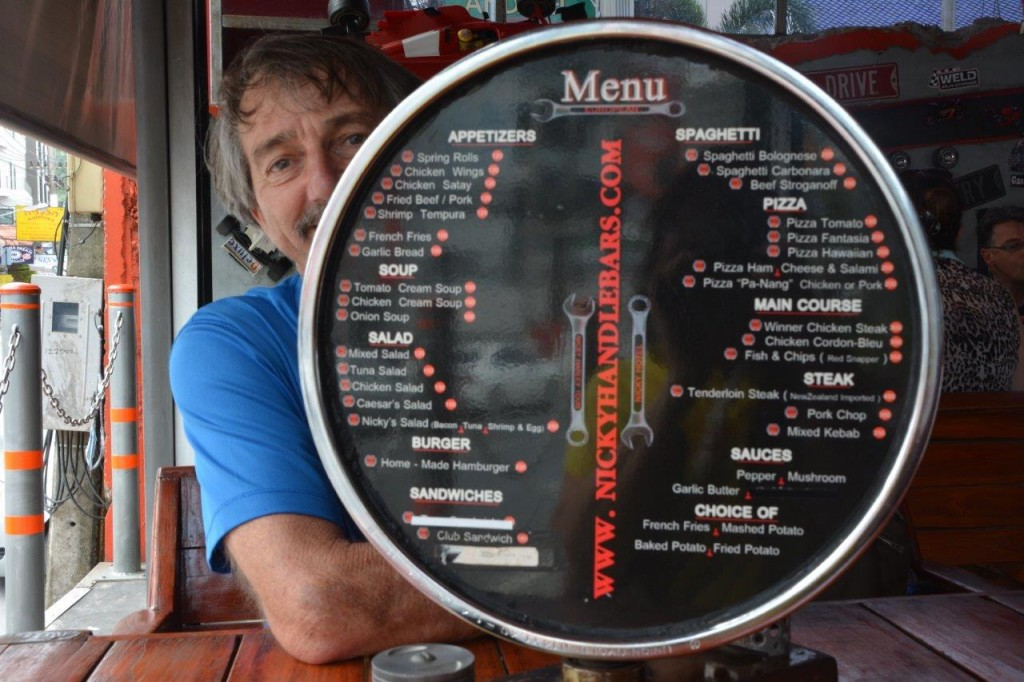 Nicky's Handlebar Menu