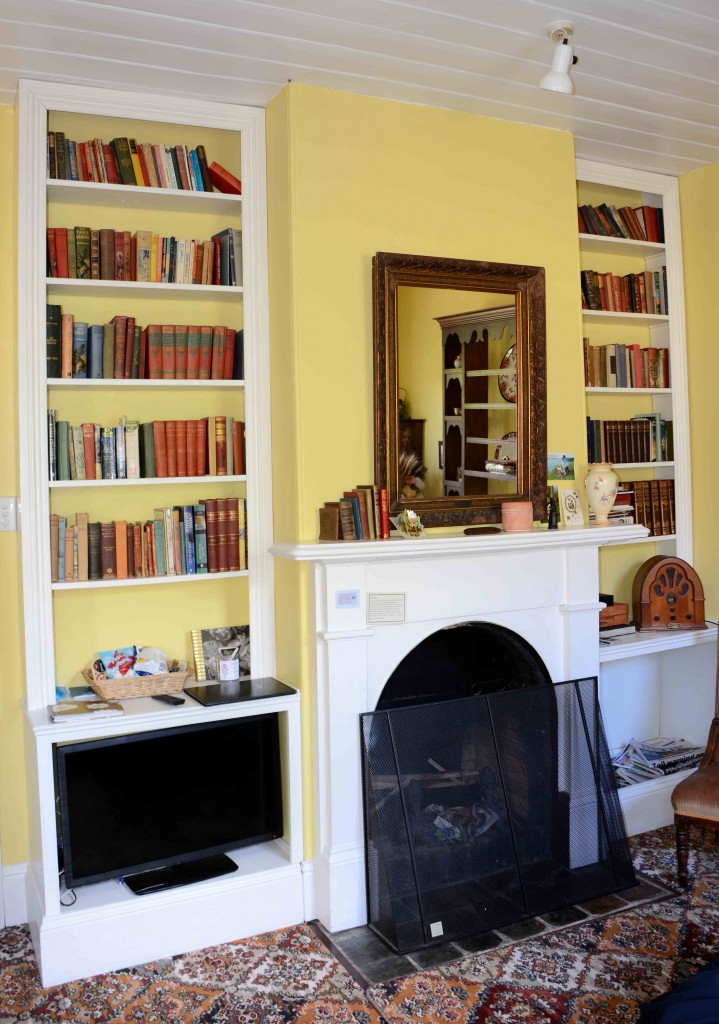 Fireplace & Library