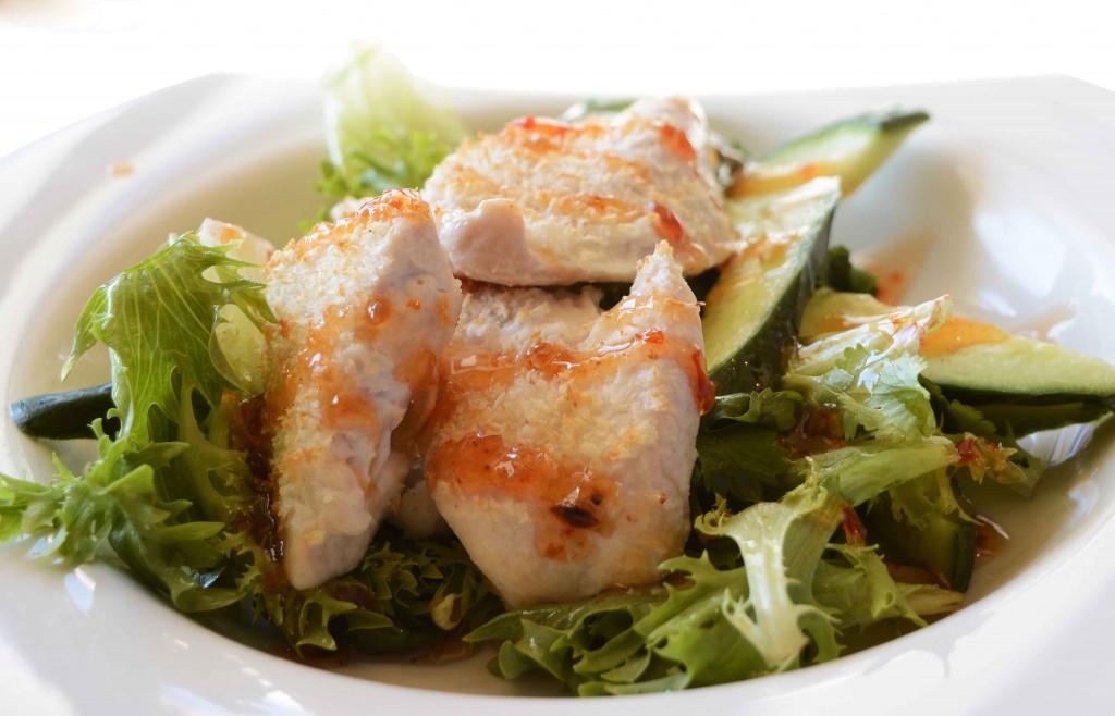 Delicious Salad at Levee Restaurant, Launceston