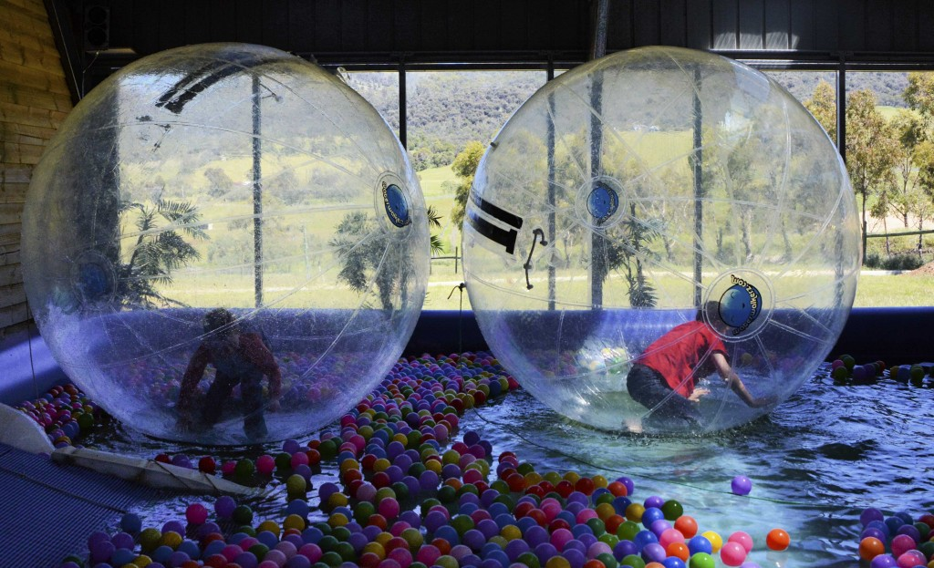 Water Balls at ZooDoo Tasmania