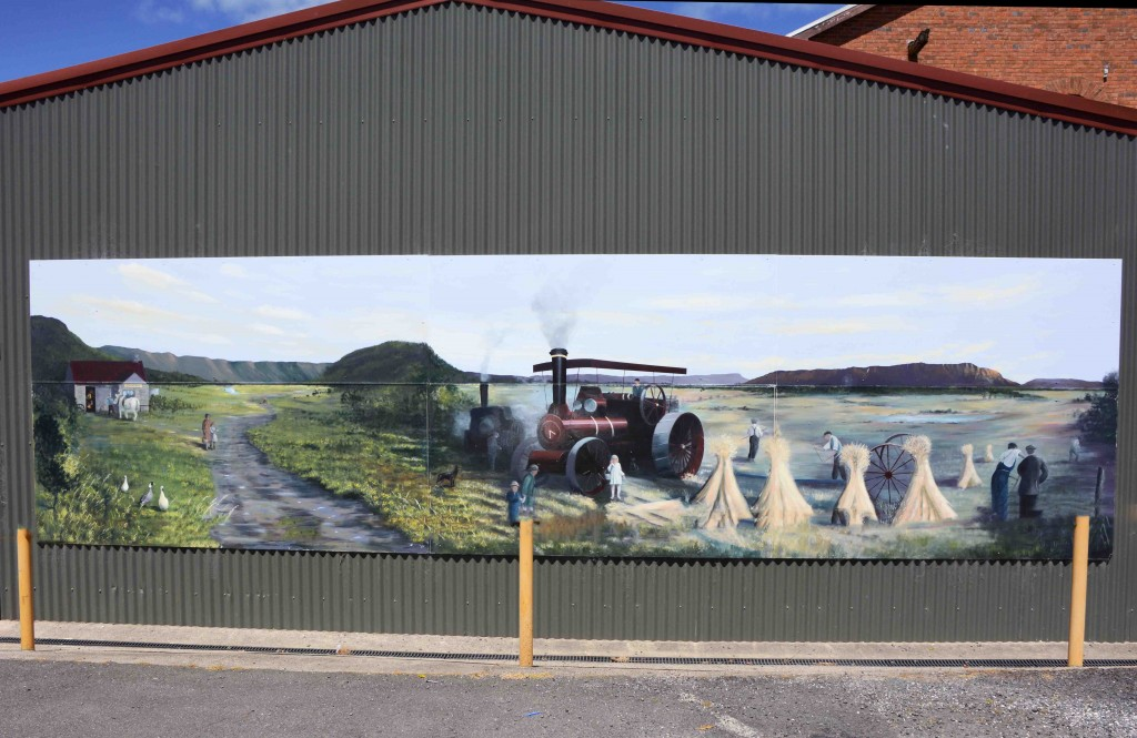 Mural in Sheffield, Tasmania