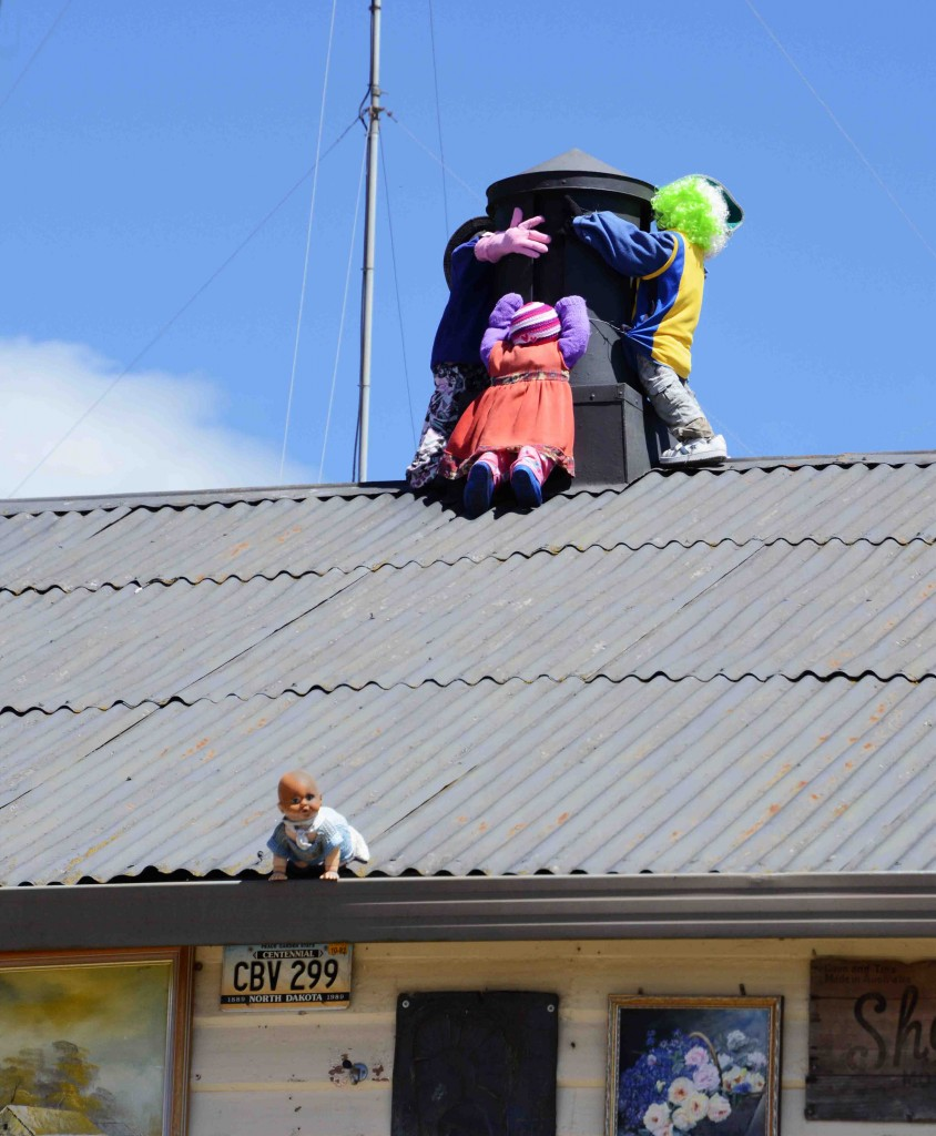 Disturbing Rooftop Display, Sheffield, Tasmania