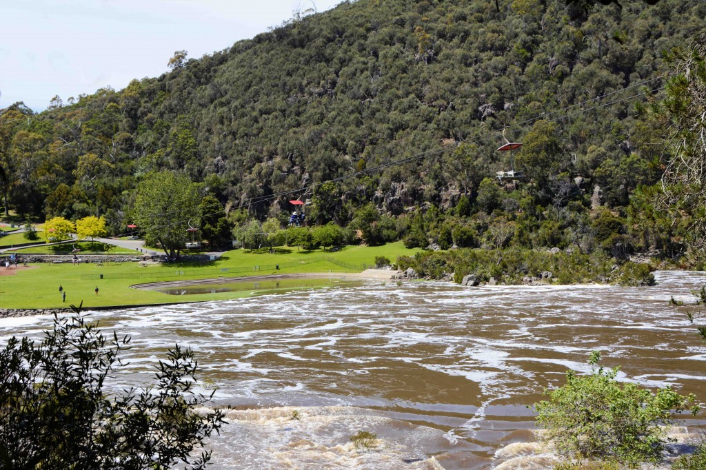 'The Basin' Cataract Gorge, Launceston, Tasmania in Flood