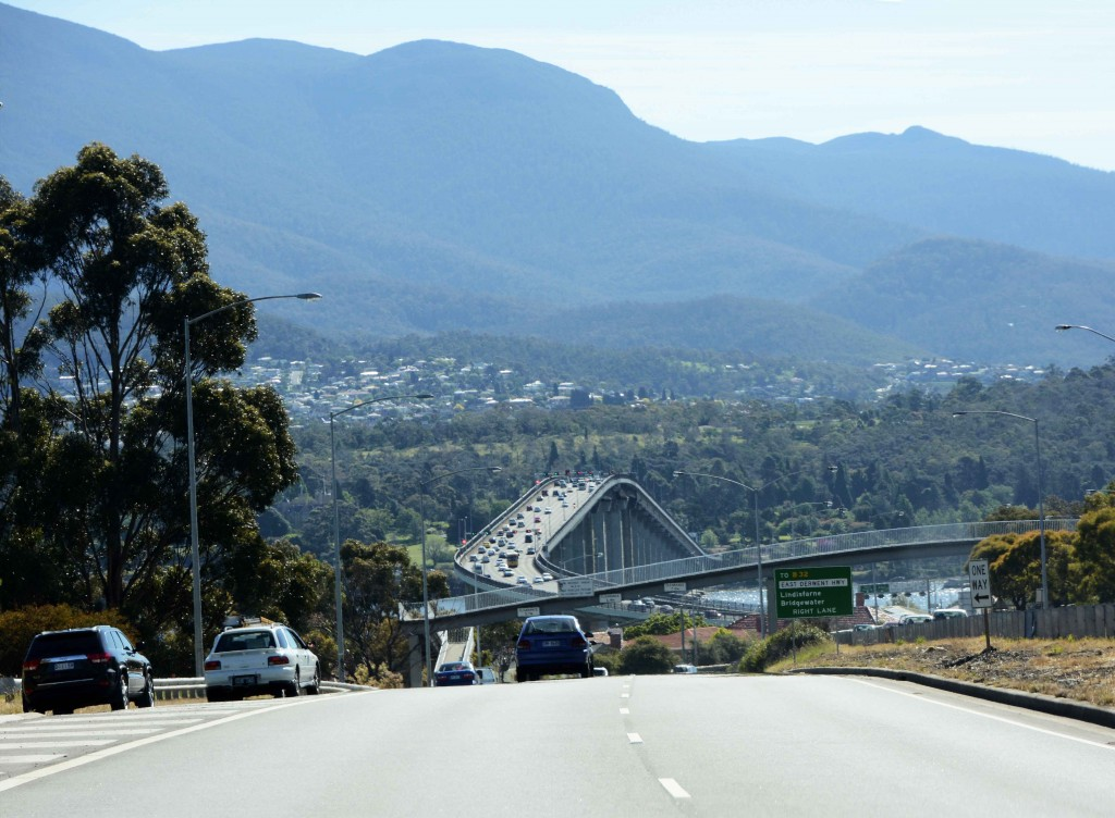 Return to Hobart via Tasman Bridge
