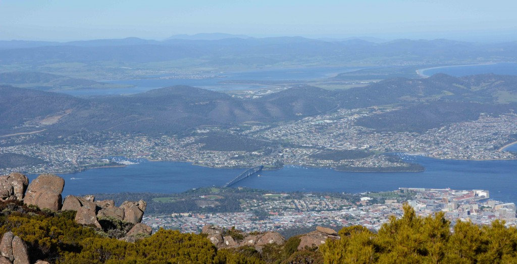 Hobart & Tasman Bridge from Mt Wellington