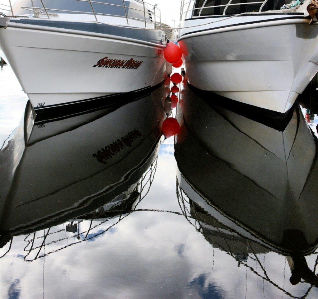 Reflections in Hobart Harbour
