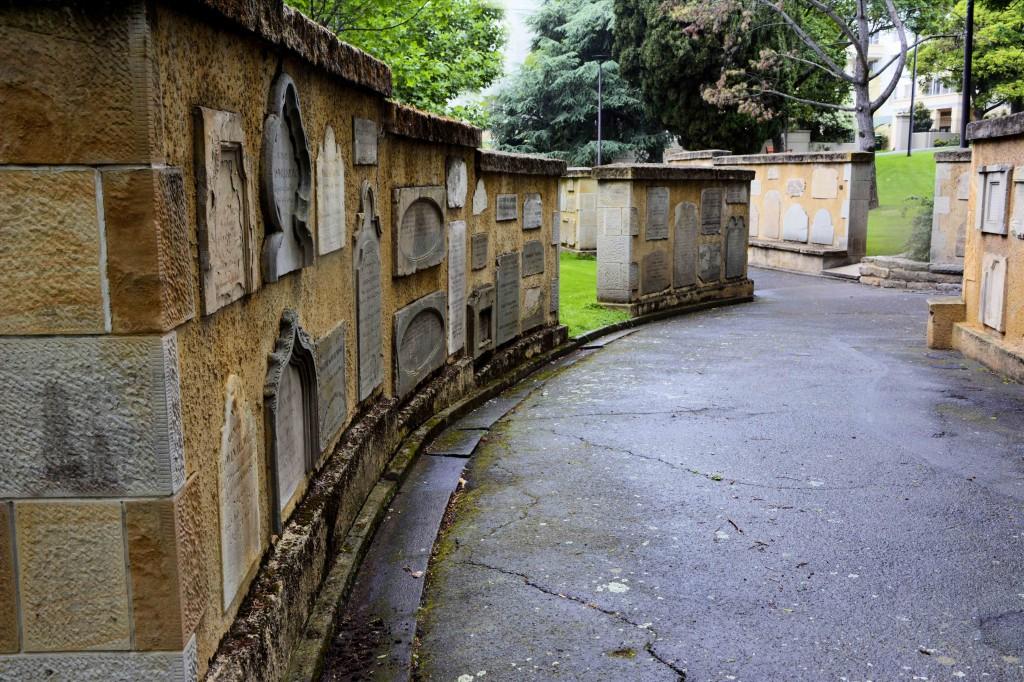 Relocated Headstones in St David's Park, Hobart