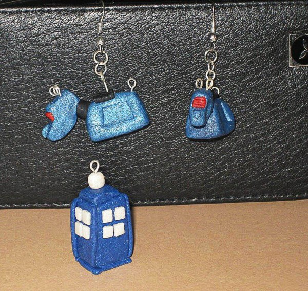 Tardis Necklace & K9 Earrings
