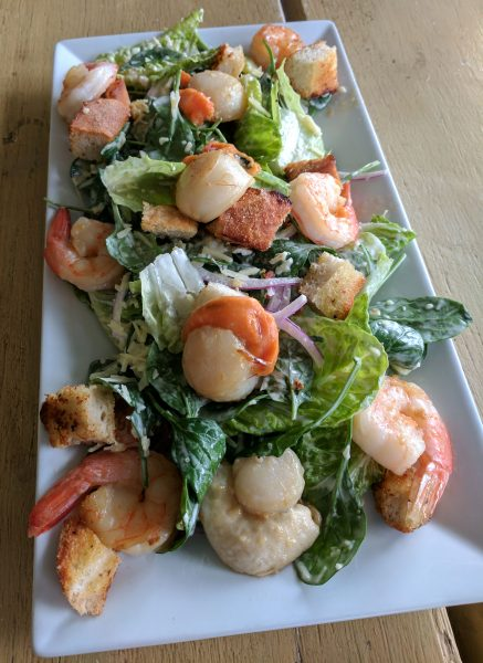 Prawn & Scallop Salad in Cervantes